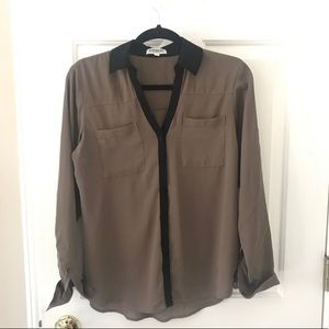 Black/taupe Portofino shirt